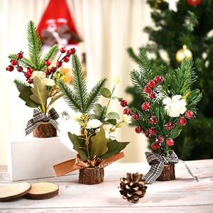 CALIENTE 200pcs de Navidad exquisito ornamento ventana Mini árbol de navidad de Navidad regalo de escritorio Decoración decoración de interiores T500188