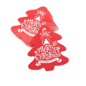 100pcs 크리스마스 태그 종이 빨간색 녹색 선물 태그 크리스마스 파티 교수형 태그 가격 레이블 hang 태그 메시지 카드 DIY 선물 포장 VT1965
