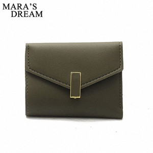 Mara's Dream 2019 Women's Spring New Folding Short Mini Wallet Simple Fashion Envelope Buckle Soft Leather Coin Purse k1tu#