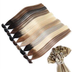 1g Cabelo MRSHAIR Ombre Fusão Extensões Cabelo Liso Remy prego queratina do cabelo pre ligado Humano / pc 14 18 20