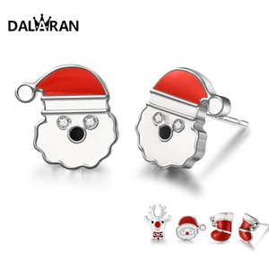 DALARAN 925 Christmas Women Earrings Sterling Boots Santa Claus Jewelry Silver For Stud Prevent Allergy Silver Exquisite Gift Gfxsd