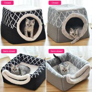 애완 동물 매트 애완 동물 잠자는 고양이 개 침대 이중 사용의 따뜻하고 부드러운 잠자는 매트리스 미끄럼 방지 통기성 고양이 집 개 공급