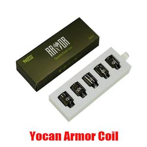 Original Yocan Armor Coil Head Replacement QDC Atomizer Core Quartz Dual Coil Vape Tank for Vaporizer Kit 100% Authentic