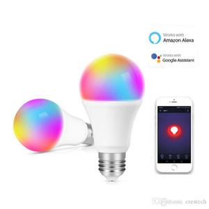 Smart LED Ampoules WiFi Ampoule LED 7W RGBCW Magic Light Ampoules Lumières Compatible avec Alexa Google Smart Home