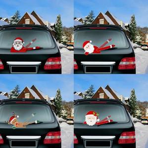 Magic Christmas Waving Santa Claus Elk Xmas Novelty Sticker Reindeer Sticker For Car Rear Windscreen Wiper