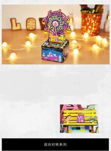 Robotime Music Box Деревянного ручной работы DIY Music Box 3D головоломка 3D модель творческого подарок Дети День подарки Женский
