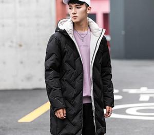 New Men's Winter Hooded Simple Fashion Velvet Jacket Ins Trendy Long Men's Down Jacket Winter Coats for99