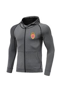 Association Sportive de Monaco FC New Soccer Jacket Design Best Men Football Tracksuit Messi Jersey Full Zip Warm Up Football Tracksuit
