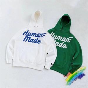 oversize con cappuccio Bianco Verde Uomini Donne 1 qualità 1high Streetwear Pullover