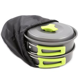 Picnic Pot Camping Pan Cookwares Utensils Outdoor Tableware Ultralight Portable Hiking Picnic Backpacking Tableware Pot Pan VT1635