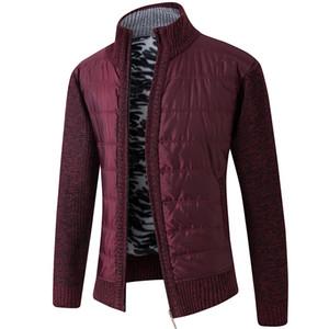 Maglione pelo folto vello patchwork di lana Cardigan Giacche Inverno Caldo FALIZA Uomo maglia cappotti Casual Male Maglieria