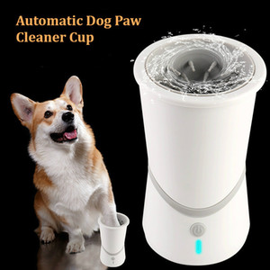 Automatic Dog Paw Cleaner Cup Electric Pet Foot Washer Cup Portable Pet Cat Dirty Paw Cleaning Cup USB Charge Pet Foot Wash Tool