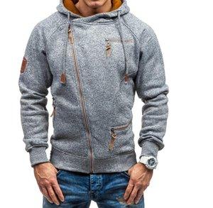 PUIMENTIUA men's Hooded Sweatshirt 2020 Casual long-sleeve Mens Hoodies Sweatshirts Slim Zipper Hooded men's Hoodie Streetwears