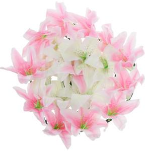 Yapay İpek Lily Cenaze Memorial Çelengi Çiçek Tombstone Grave Çiçek