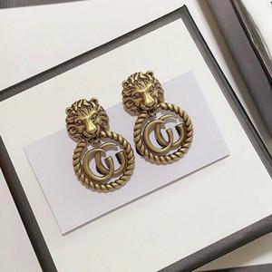 2020 جديد الأقراط وصول النحاس سلسلة المادية مع شكل رأس أسد لالأقراط رجل المجوهرات هدية الزفاف الشحن المجاني