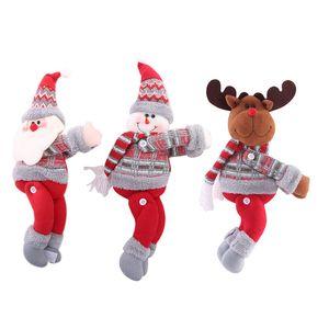 크리스마스 장식 크리스마스 인형 크리스마스 트리 커튼 커튼 버클 휴일 창 장면 레이아웃 만화 인형 버클 HHF1704