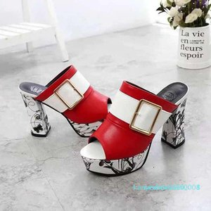 zapatos de mujer sandalias de la mejor calidad tacones altos deslizadores de las sandalias huaraches flip flop de zapatos de los holgazanes Para zapatilla shoe10 PL540 k08