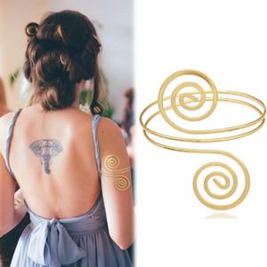 O ouro grego Roman Laurel folha larga pulseira Armband Braço Cuff Armlet Festival nupcial Belly Dance Jóias