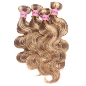 Nami Hair Hair Longer Nightlight اللون البرازيلي الجسم موجة ريمي الشعر 4 حزم البيانو اللون 8/613 الشعر ينسج