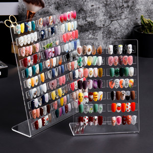 Nail acrylique carte couleur L Forme professionnelle Affichage des ongles Affichage Shelf Conseils faux stand polonais Outils pour Salon de beauté