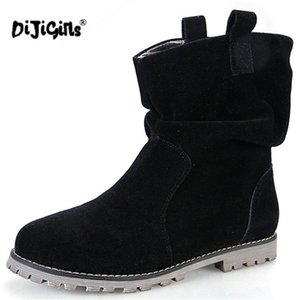 DIJIGIRLS Womens Snow Boots Shoes Fashion Faux Suede Womens Ankle Boots Shoes New Arrival Warm With Fur