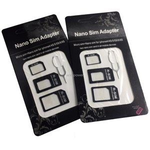 4in1 Micro Nano SIM Card Adapter Connector Convert SIM Card To Micro Standard Adaptor for IPhone 6 7 Plus Huawei P8 Xiaomi V8 Phone
