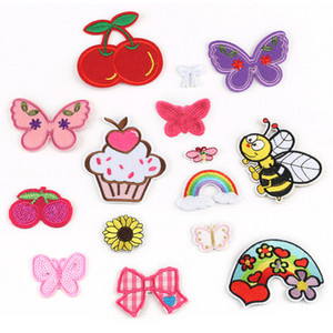 Hot sell cheap custom clothing accessories butterfly embroidery patch iron on clothing embroidered badges logo patches custom trend patches
