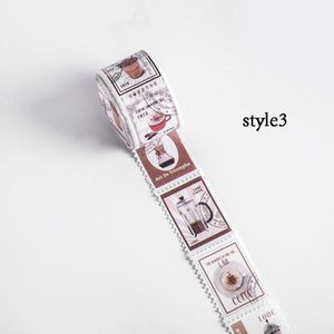 Scrapbooking Label Retro Stamps Tape Tape Adhesive Post Coffee Bullet Office Journal Series Washi Decorative Sticker Pcs 1 Diy GJOnQ