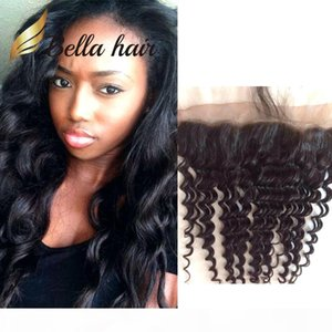 13x4 Brazilian Indian Peruvian Lace Frontal Closure Loose Deep Wave Ear to Ear Lace Frontal Dyeable Natural Color Human Hair Top Closures