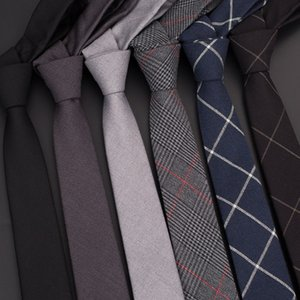 High Quality 2020 Designer New Fashion Men 6cm Wool Ties Plaid Neckties Casual Wedding Business Formal Suit Ties with Gift Box