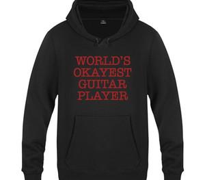 World's Okayest Guitar Player Funny Creative Sweatshirts Men 2018 Mens Hooded Fleece Pullover55