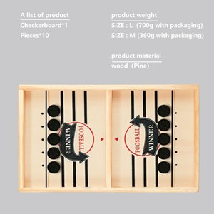 Wooden football winner Portable Sling puck Board Game Children Fun Entertainment Toy Gift Both Boy And Girl