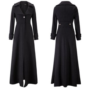Vintage Trench Coats Women Autumn Winter Windbreaker Elegant Office Lady Fashion England Style Overcoats Casual Long Coat