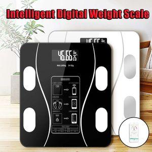 Электронные весы Масса тела Беспроводная связь Bluetooth Интеллектуальные весы для ванной комнаты USB цифровой смарт ИМТ Фитнес Вес Tracking Scale