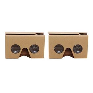 2PCS Occhiali 3D per Google Cardboard V2 Valencia 4.5- 6Inch Smartphone con fascia