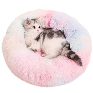 Cat Plush Beds Soft Fluffy Comfortable Pet Kennel Cat House