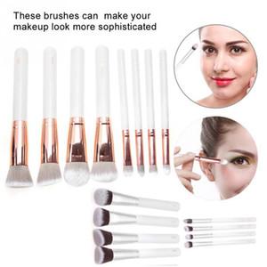 8Pcs set Portable Makeup Brush Kit Foundation Eyeshadow Cosmetic Tool With Storage Bag