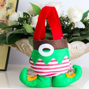 Christmas Candy Bag Long Foot Elf High Quality Plush Toy Room Decorations Holiday Gift DHL Free Shipping
