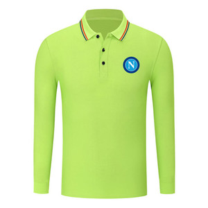 SSC Napoli 2020 Men's Long Sleeve Shirt Fashion Sports Football Polo POLO Shirt Trend High Lapel POLO Business Shirt