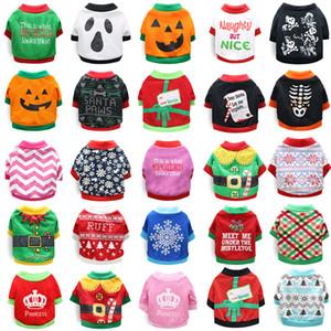 Halloween Vêtements pour chiens Vêtements pour chiens de Noël Décorations de Noël pour les petits animaux de chat et d'automne d'hiver petits vêtements chiot XD23960