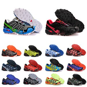 salomon sneakers Скорость кросс 3 CS Открытые мужские кроссовки SpeedCross 3 бегун III Черного Зеленый Тренеры Мужчины Спорт Кроссовки Chaussures Zapatos 40-46