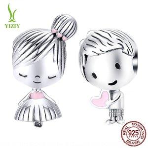 AXYVZ Infância namorada s925 prata esterlina moda SCC1334 Infância namorada s925 prata esterlina moda Beads DIY talão acessórios