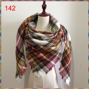 Bandanas 2021 Scarf Women Tartan Plaid Cashmere Fashion Designer Blanket Women's Scarves And Wraps