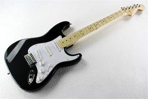 6 Струна Black Body Клен Накладка электрическая гитара с белой накладкой, Chrome оборудованием, 3 Пикапов, может быть настроена