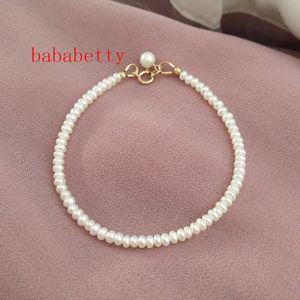 New Natural Freshwater White Pearl 3-4MM Irregular Pearl Bracelet