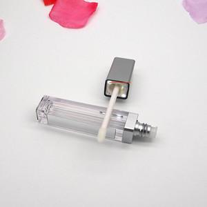 LED 조명 사각 투명 빈 립글로스 튜브 리필 병 2 색 모자와 7 ML 화장품 플라스틱 용기를 사용할 수 있습니다