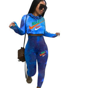 2021 Mulheres Treino Dois Set Pieces manga comprida Outfits Zipper Cardigan moda Plus Size Sportswear Jogging ternos Streetwear Roupas S-XXL