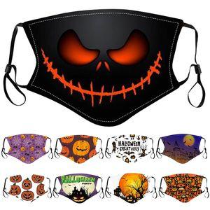 дизайнер маска мода маски для лица Хэллоуина взрослых детей защитных масок пылезащитной дымки печать мультфильм Washable ветрозащитной маски