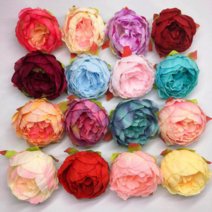 Simulation Large Peony Head Silk Flowers for Home Decor Flower Wall Wedding Flower Materail DIY Decoration Fake Peonies