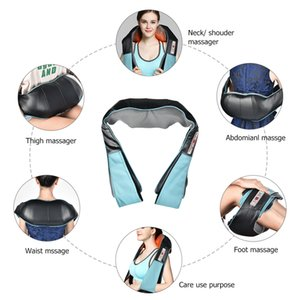 Electrical Massagem U Forma Elétrica Shiatsu Voltar Neck Shoulder Body Massager infravermelho aquecida 4D Amassar Car / Home MassagemRabi